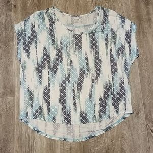 🍾 ANA blouse / top blue, white 🍾